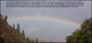 rainbow with verse